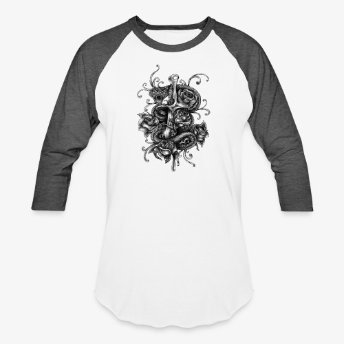 Dagger And Snake - Unisex Baseball T-Shirt