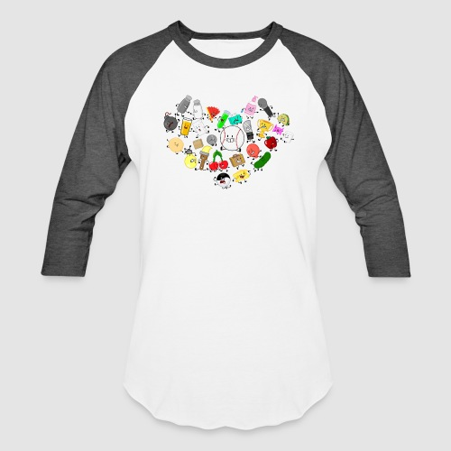 Inanimate Heart Color - Unisex Baseball T-Shirt