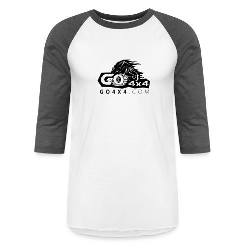 go bw white text black - Unisex Baseball T-Shirt