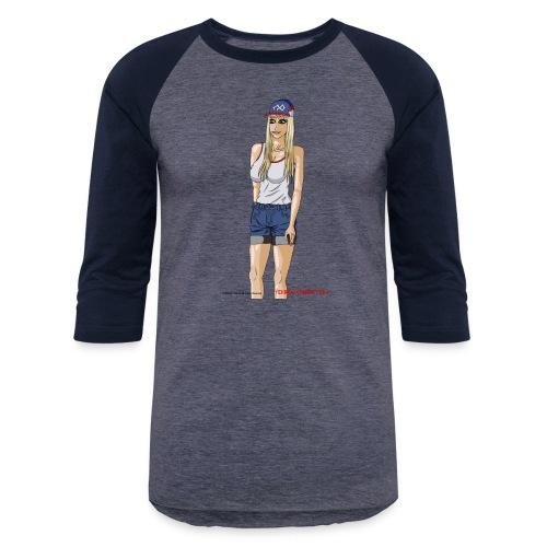 Gina Character Design - Baseball T-Shirt
