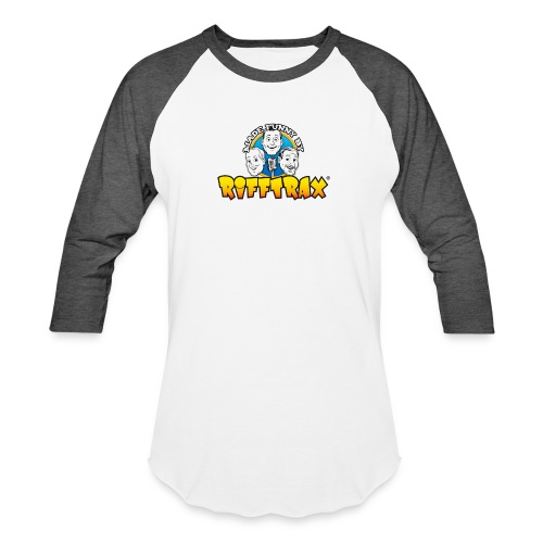 RiffTrax Made Funny By Shirt - Unisex Baseball T-Shirt
