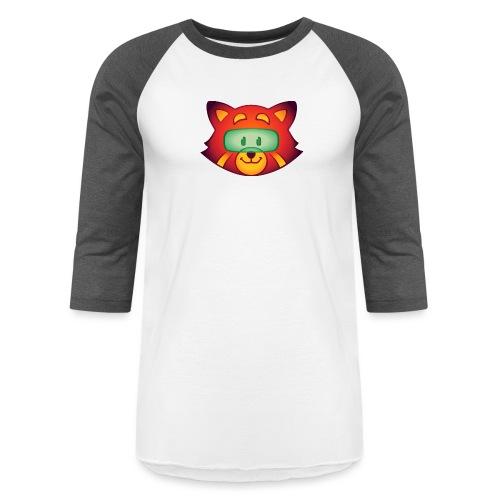 Foxr Head (no logo) - Unisex Baseball T-Shirt