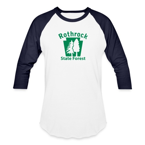 Rothrock State Forest Keystone (w/trees) - Baseball T-Shirt