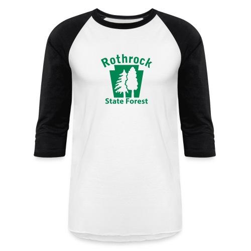 Rothrock State Forest Keystone (w/trees) - Baseball T-Shirt