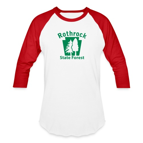 Rothrock State Forest Keystone (w/trees) - Unisex Baseball T-Shirt