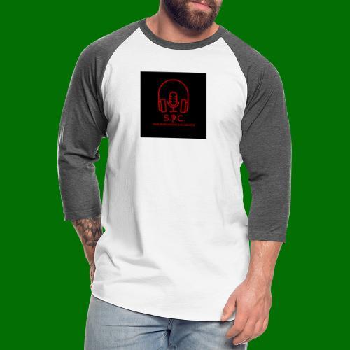 SPC Logo Black/Red - Unisex Baseball T-Shirt