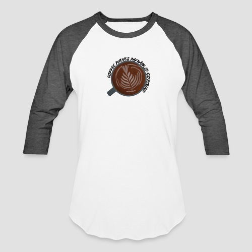 Coffee Is My World - Unisex Baseball T-Shirt