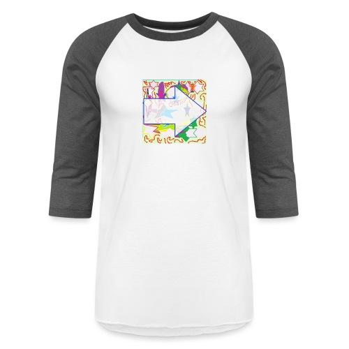 shapes - Unisex Baseball T-Shirt