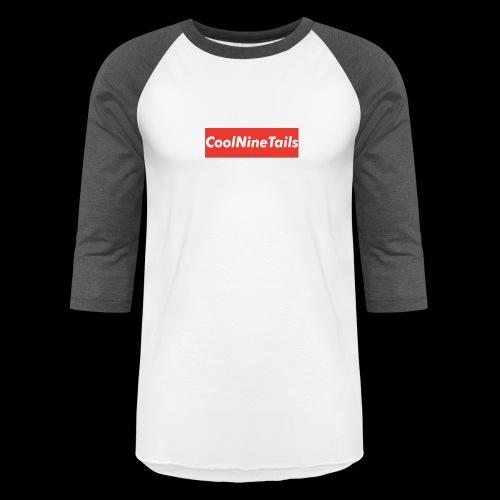 CoolNineTails supreme logo - Baseball T-Shirt
