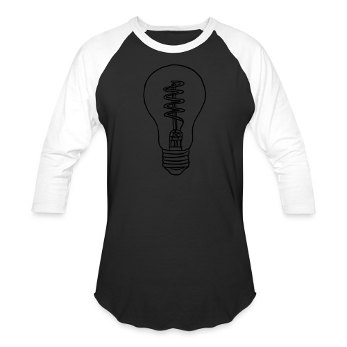 Vintage Light Bulb - Baseball T-Shirt