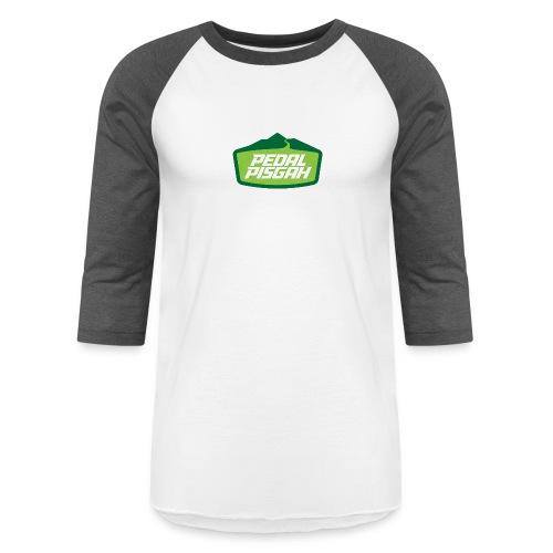 Mountain Trail Emblem Color - Unisex Baseball T-Shirt