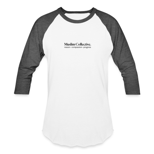 Muslim Collective Logo + tagline - Unisex Baseball T-Shirt