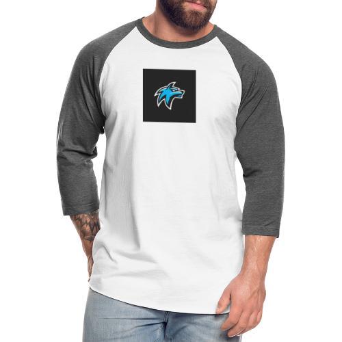 wolf head esport gaming logo vector 44095 55 - Unisex Baseball T-Shirt