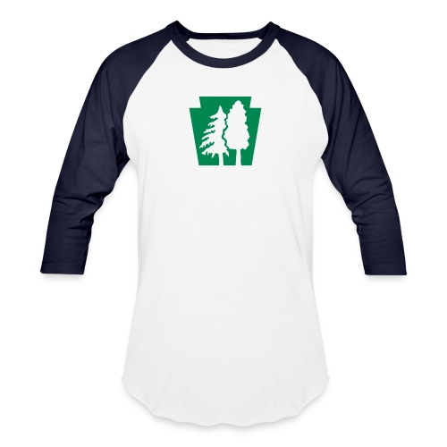 PA Keystone w/trees - Baseball T-Shirt