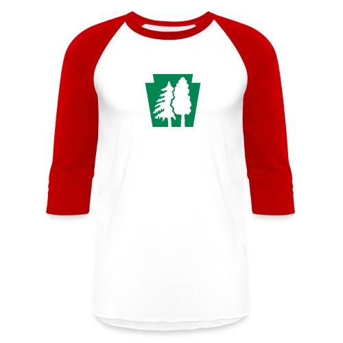 PA Keystone w/trees - Unisex Baseball T-Shirt