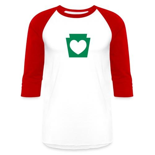 Love/Heart PA Keystone - Unisex Baseball T-Shirt