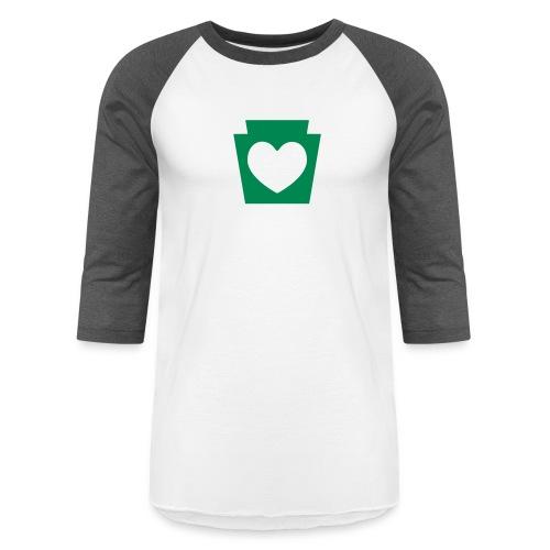 Love/Heart PA Keystone - Baseball T-Shirt