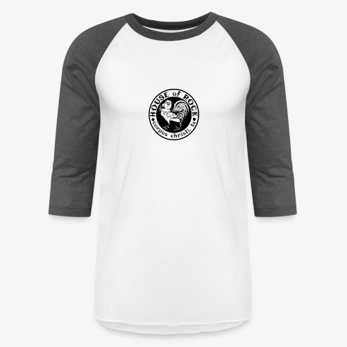 House of Rock round logo - Unisex Baseball T-Shirt