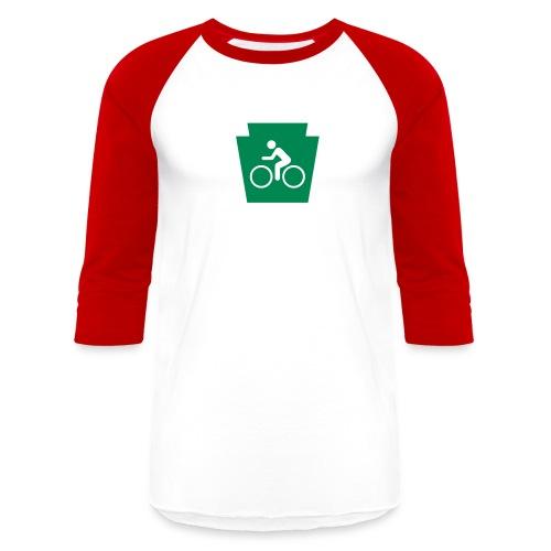 PA Keystone w/Bike (bicycle) - Unisex Baseball T-Shirt