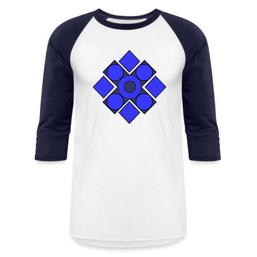 Geometric Cerulean - Baseball T-Shirt