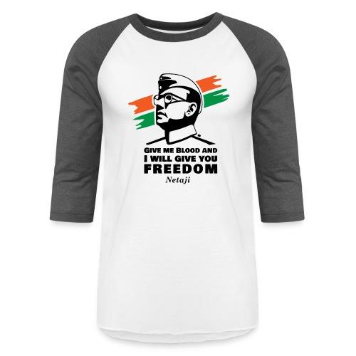 Subhash Chandra Bose - Unisex Baseball T-Shirt