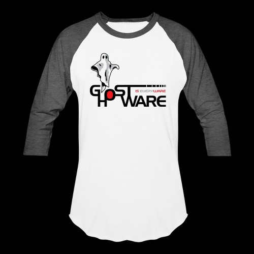 Ghostware Wide Logo - Unisex Baseball T-Shirt