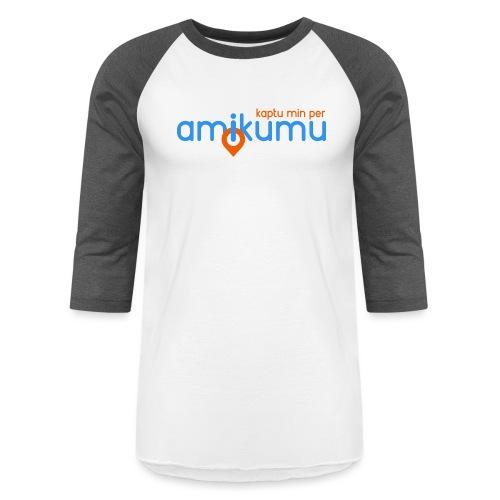 Kaptu min per Amikumu Blua - Unisex Baseball T-Shirt