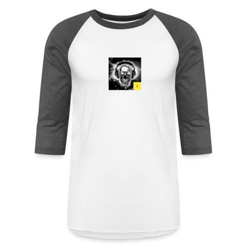 skull - Baseball T-Shirt