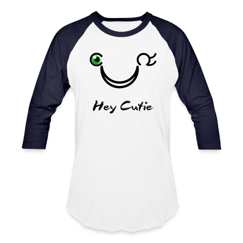 Hey Cutie Green Eye Wink - Baseball T-Shirt