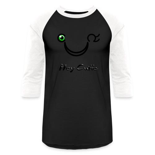Hey Cutie Green Eye Wink - Baseball T-Shirt