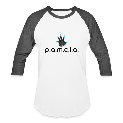 P.A.M.E.L.A. Logo Black - Unisex Baseball T-Shirt