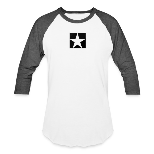 MOB-MOM ' WHITE STAR - Unisex Baseball T-Shirt