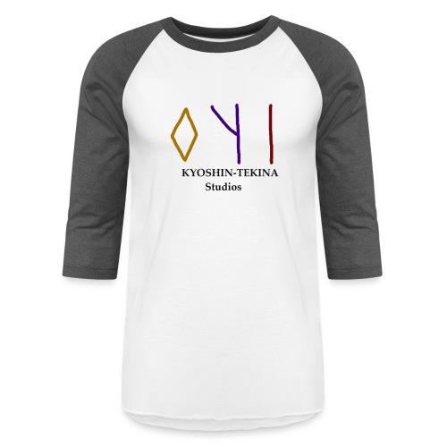 Kyoshin-Tekina Studios logo (black test) - Baseball T-Shirt