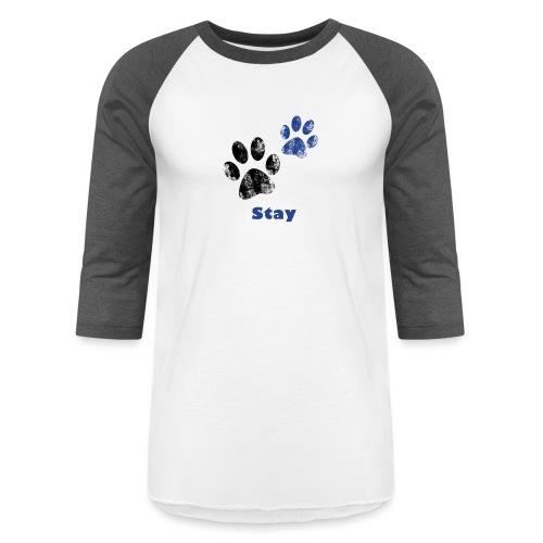 Stay Pawsitive! - Unisex Baseball T-Shirt