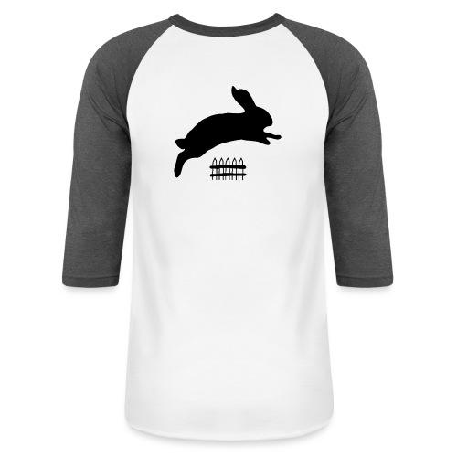 Rabbyt and Fence - Baseball T-Shirt