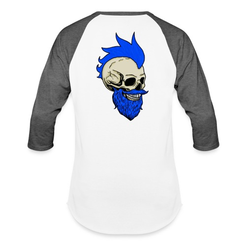 Matty Mohawk Skull - Unisex Baseball T-Shirt