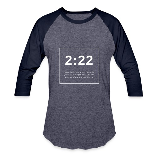 Angel Number 2:22 - Baseball T-Shirt
