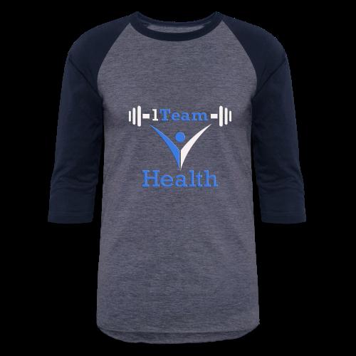1TH - Blue and White - Baseball T-Shirt
