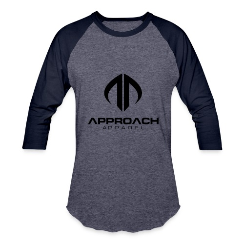 Approach Apparel Athletic Hoodie Shirt- Black Logo - Baseball T-Shirt