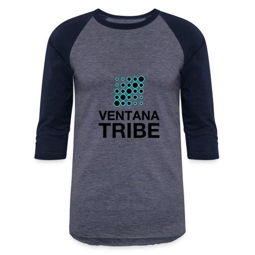Ventana Tribe Black Logo - Baseball T-Shirt