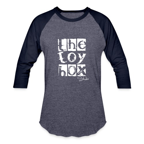 The Toy box Studio - White Logo - Baseball T-Shirt
