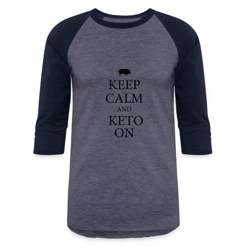 Keto keep calm2 - Baseball T-Shirt
