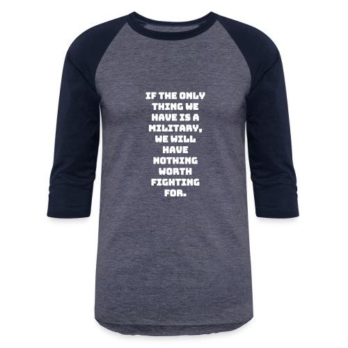 Military white - Baseball T-Shirt