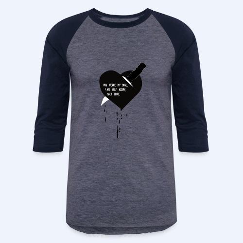 Heart Knife Design - Baseball T-Shirt