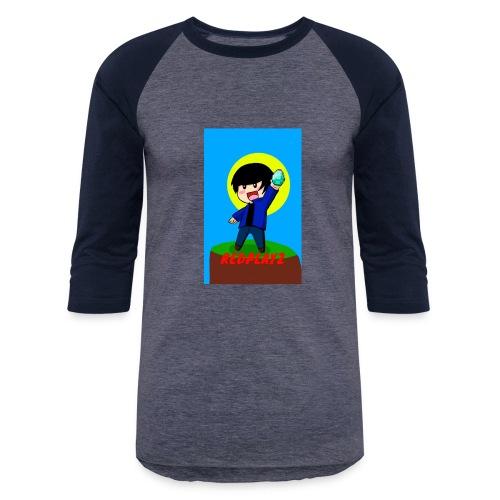BLUE REDPLAYZ T-SHIRT ORIGINAL DESIGN - Baseball T-Shirt