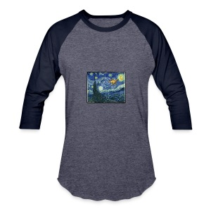 Starry Night Drone - Baseball T-Shirt