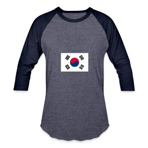 Flag of South Korea - Baseball T-Shirt