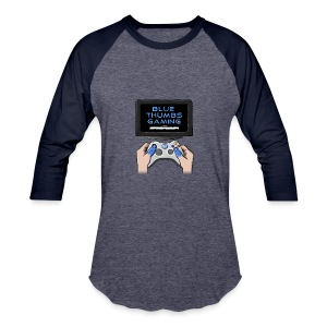 Blue Thumbs Gaming: Gamepad Logo - Baseball T-Shirt