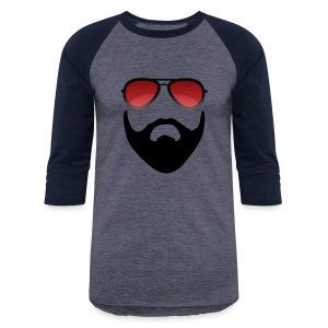 Beard and shades - Baseball T-Shirt