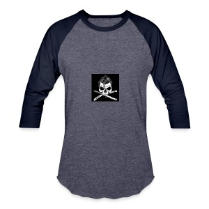 Greaser skull - Baseball T-Shirt
